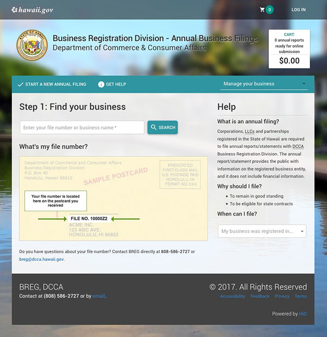 User-Centered Redesign of Annuals Filing Web Site image