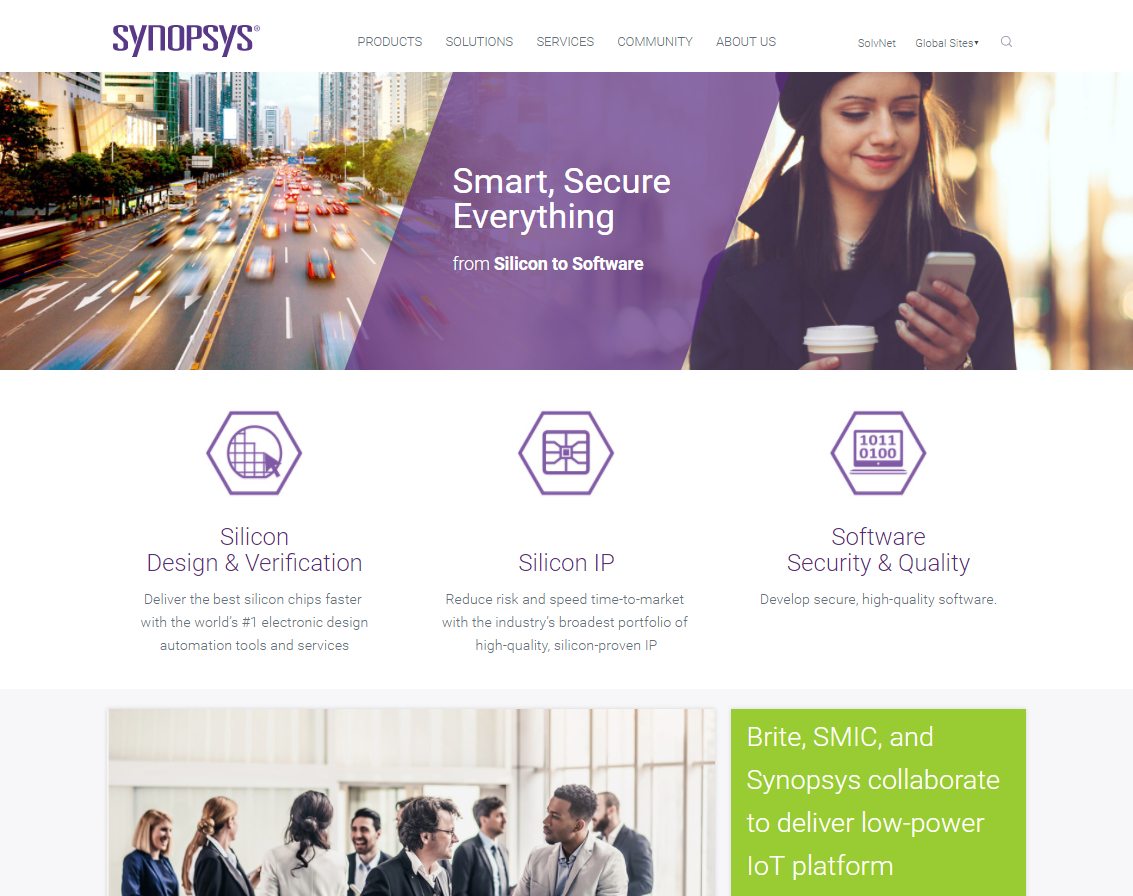 Synopsys.com Web Site Redesign image