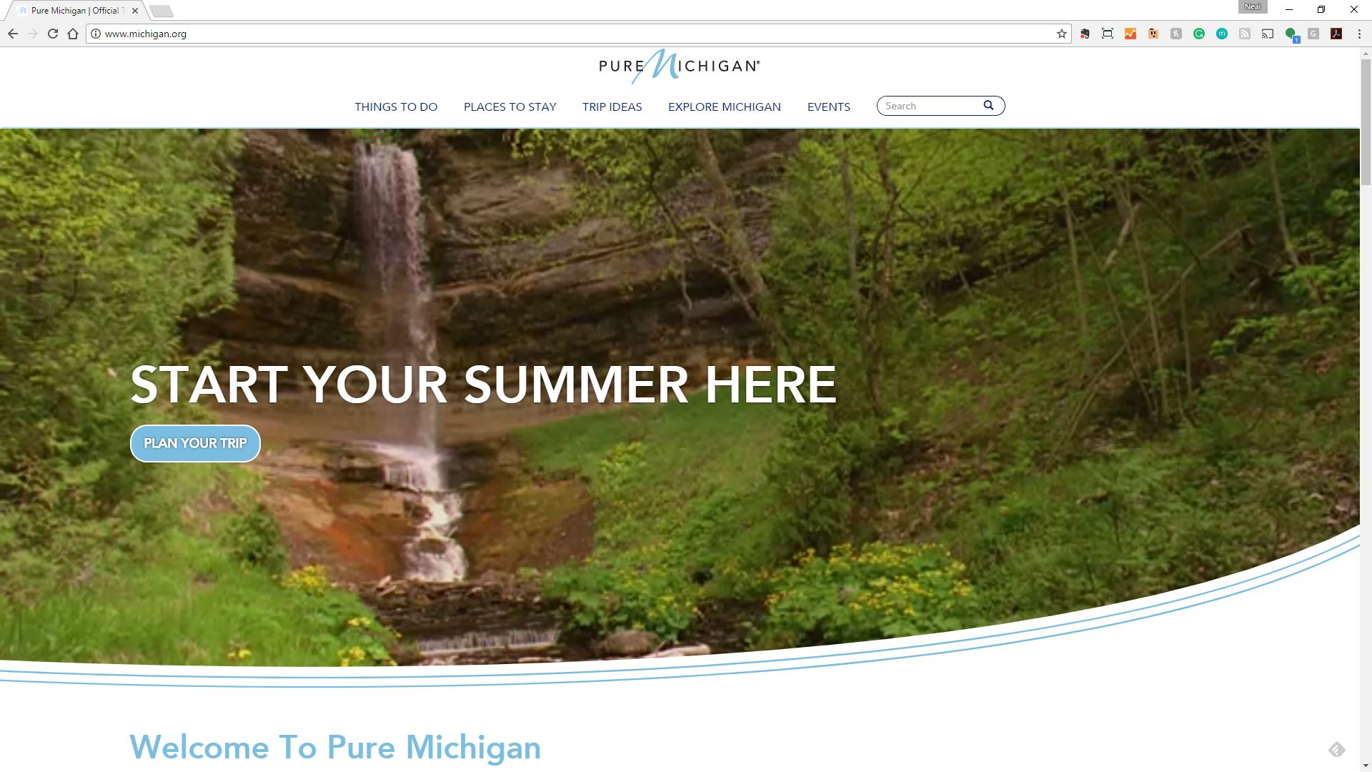 Pure Michigan's New Leisure Website