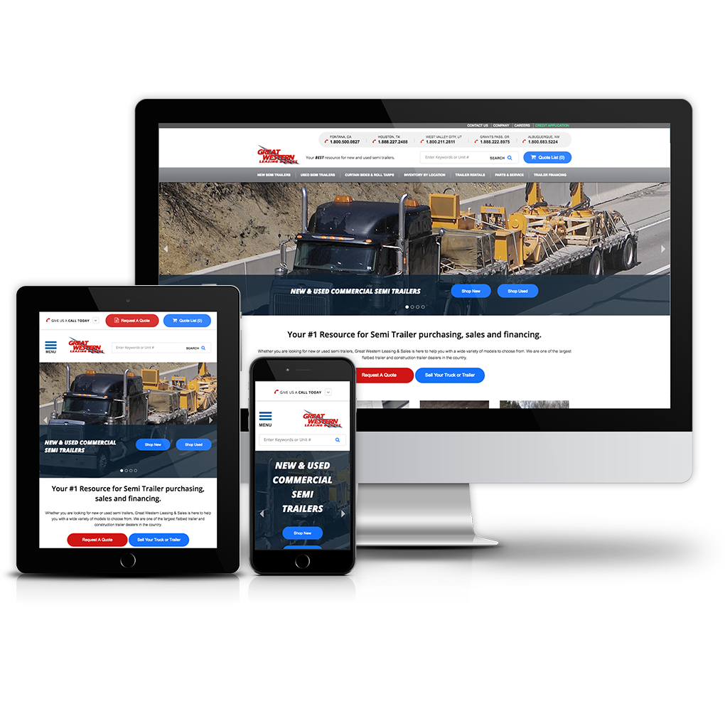 Great Western Leasing & Sales Website image
