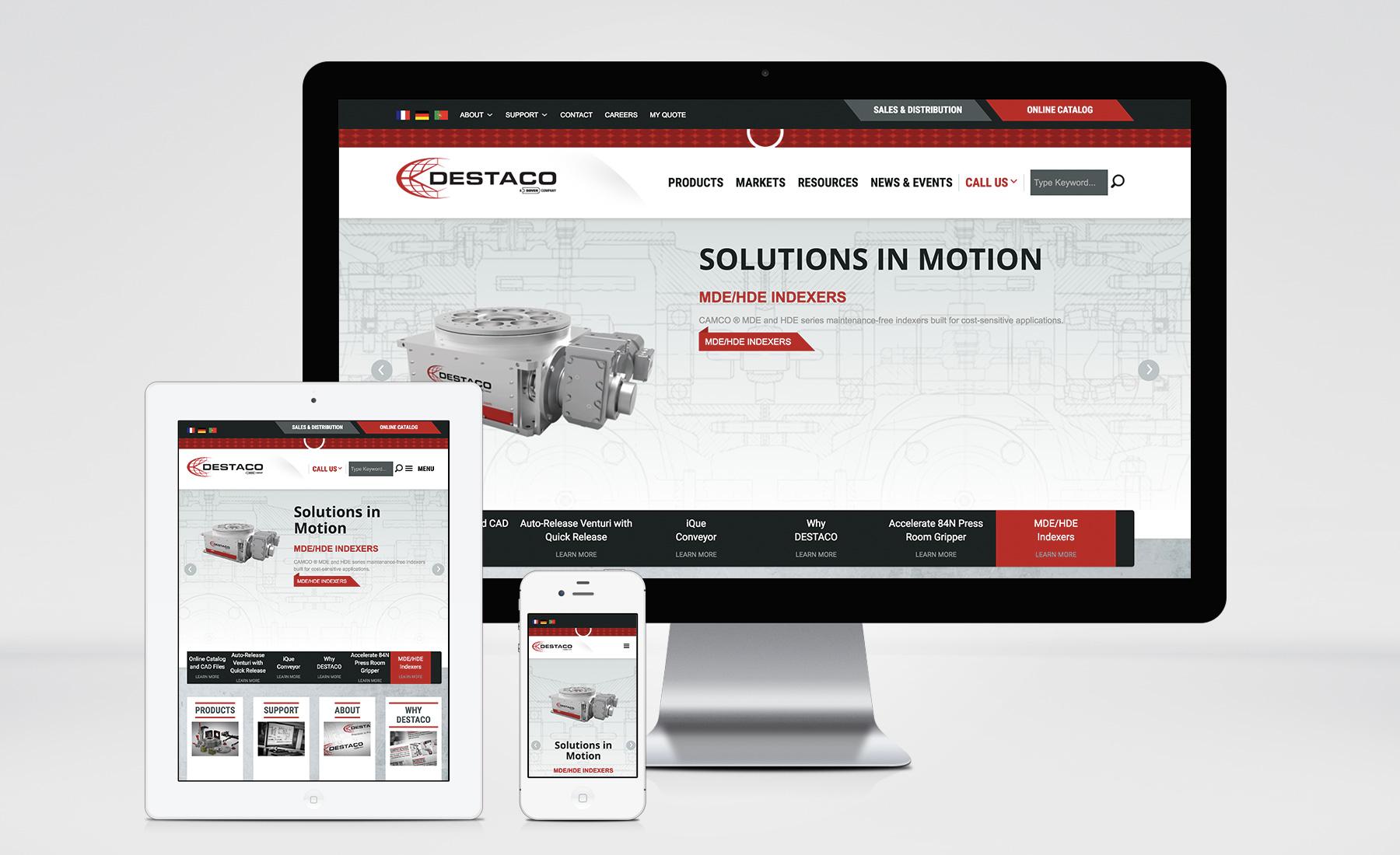 DESTACO Website image