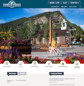 Frisco Colorado Government Website image