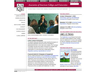 AAC&U Web Site image