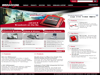 Broadcom Website image