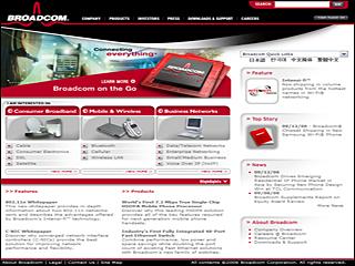 Broadcom Website image