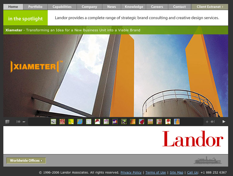 Landor Associates - Corporate Web Site image