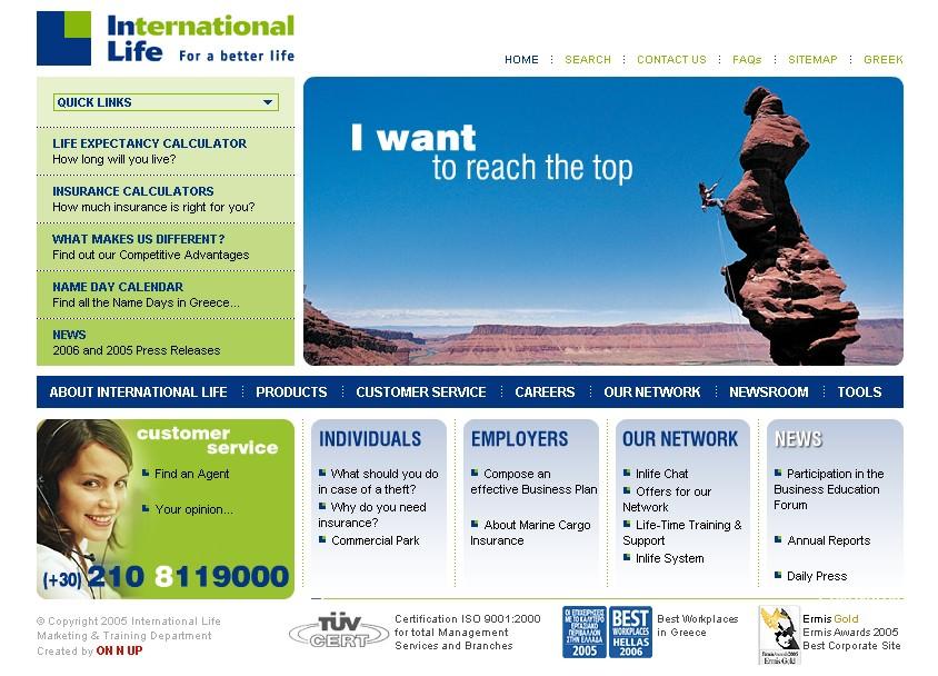 International Life Group Website image