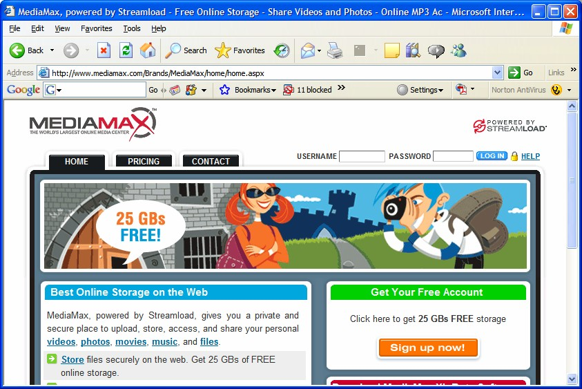 MediaMax, powered by Streamload image