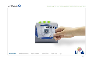 Chase card with Blink image