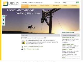 Edison International Website image