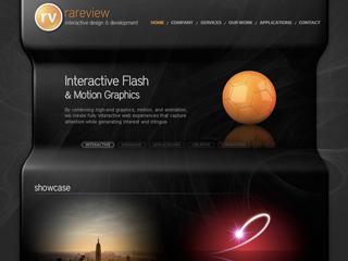 Rareview Interactive Flash Website image