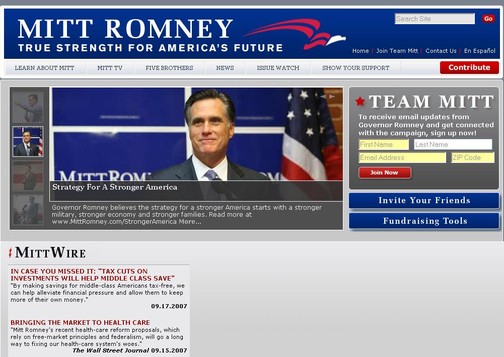 Mitt Romney for President image