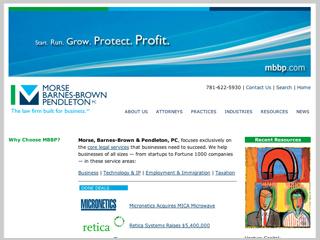 Morse, Barnes-Brown & Pendleton Web Site image