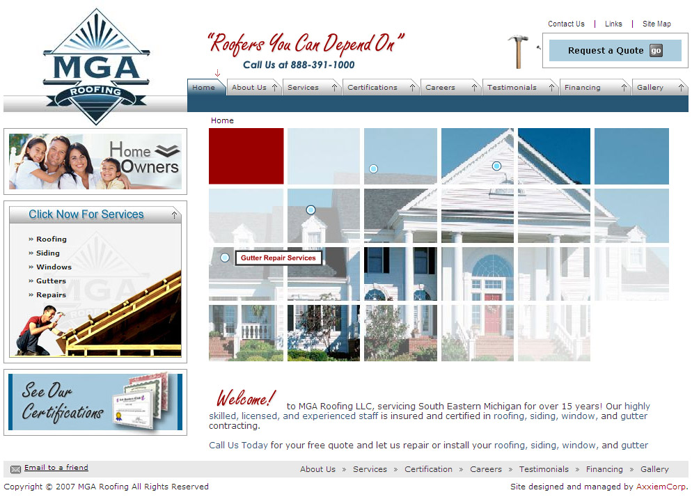 www.mgaroofing.com image