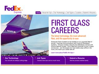 FedEx Air Ops Microsite image