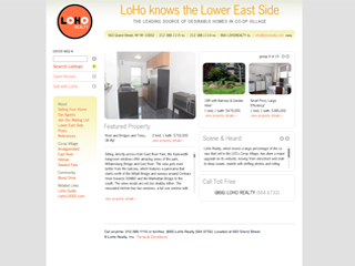 LoHo Realty Website image