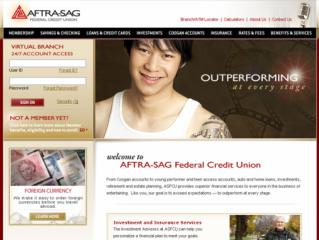 AFTRA-SAG FCU Virtual Branch Website image