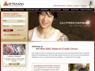 AFTRA-SAG FCU Virtual Branch Website image