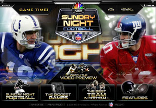 Sunday Night Football Teaser Site image