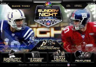 Sunday Night Football Teaser Site image