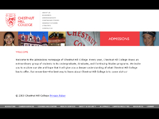 Chestnut Hill College Admissions Site image