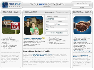 BLUE ONE Realty Website image