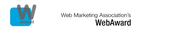 logo inside Weve Won a WebAward: Best Small Business Website!