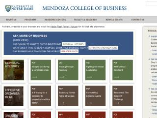 UNIVERSITY OF NOTRE DAME MENDOZA COLLEGE OF BUSINESS WEB SITE REDESIGN image