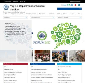 Virginia Department of General Services Website Redesign image