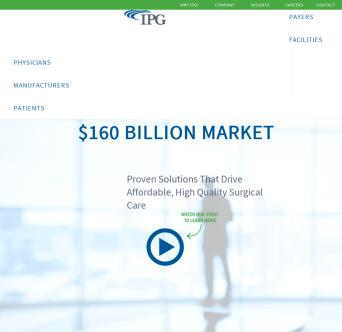 IPG.com Website Re-Design image