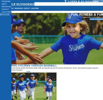 Little Sluggers Website
