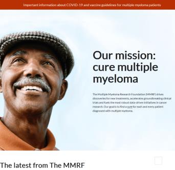 Multiple Myeloma Research Foundation Website image