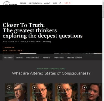 The Closer to Truth Website image