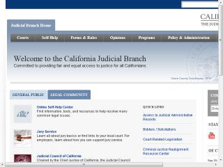 California Courts Website: Judicial Council of California image