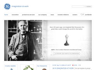 GE Corporate Web Site image