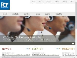 ICF International Corporate Website image