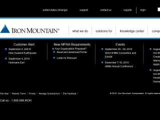 Iron Mountain Corporate Site image