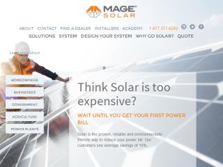 MAGE SOLAR USA Website Redesign & PPC image