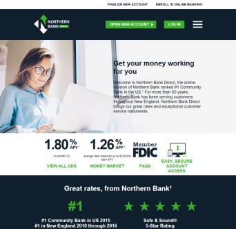 Northern Bank Direct Website  image