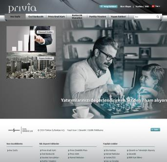 Turkiye Is Bankasi New Privia Website image