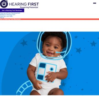 Starts Hear Website Powered by Hearing First