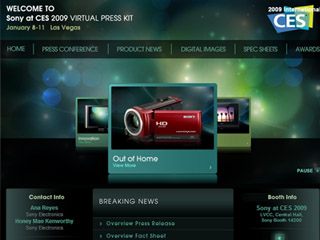 Sony CES 2009 Virtual Press Kit image