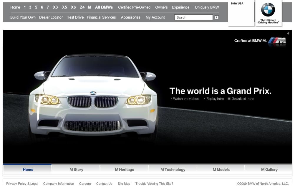 BMW M Microsite image
