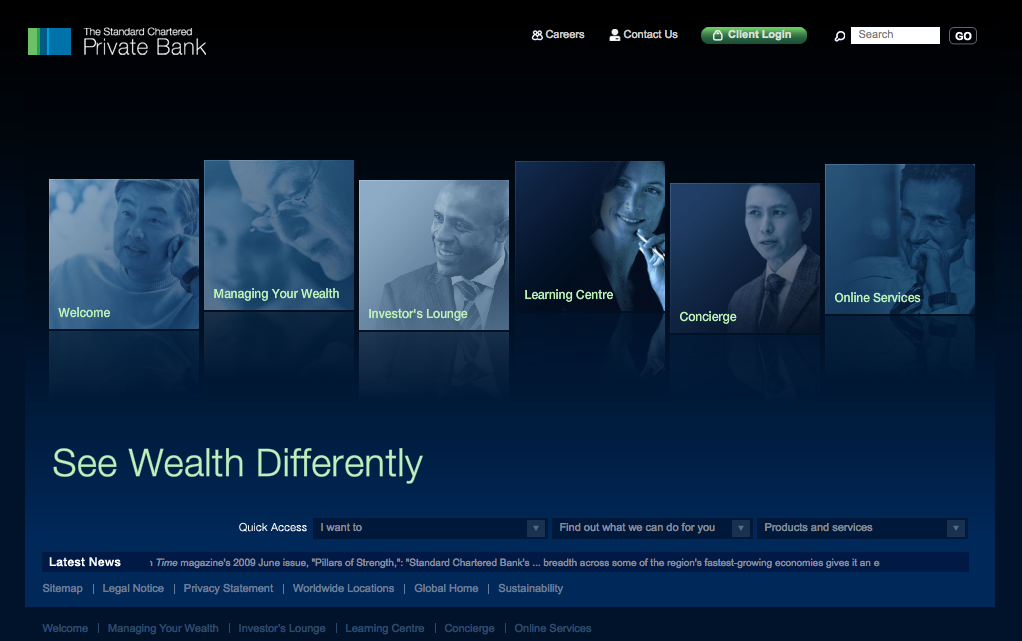 The Standard Chartered Private Bank Global Website image