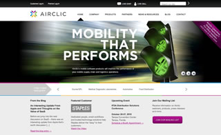 Airclic Website image