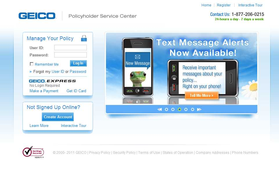 GEICO Policyholder Service Center - New Look and Feel image