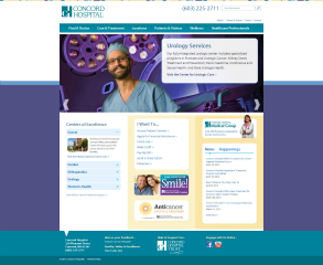 Concord Hospital Website image