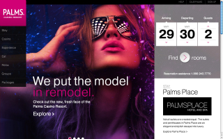 Palms.com Redesign image