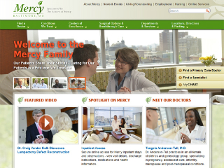Mercy Medical Center Website image