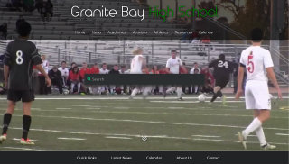 Granite Bay High School Website image
